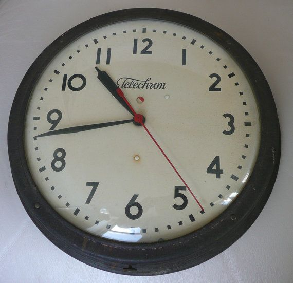 Telechron Company Vintage Industrial Wall Clock by Streetreasure, $50.00...