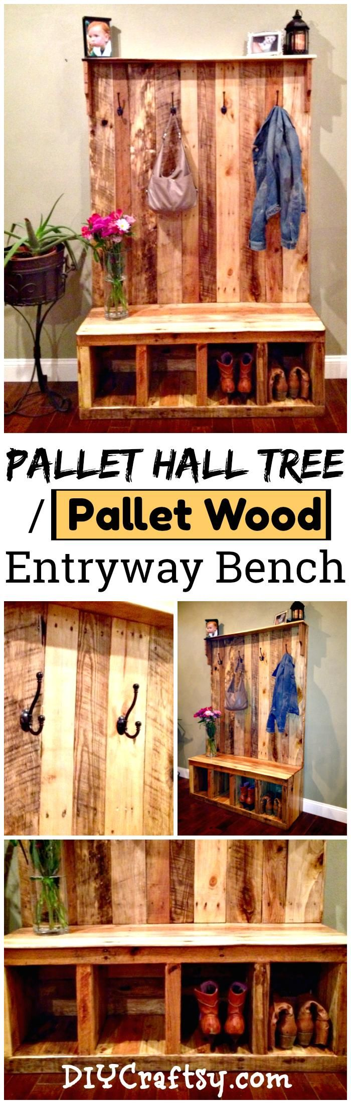 Decor Diy Inspiration Diy Your Own Pallet Hall Tree Or Pallet Wood Entryway Bench Decor Object Your Daily Dose Of Best Home Decorating Ideas Interior Design Inspiration