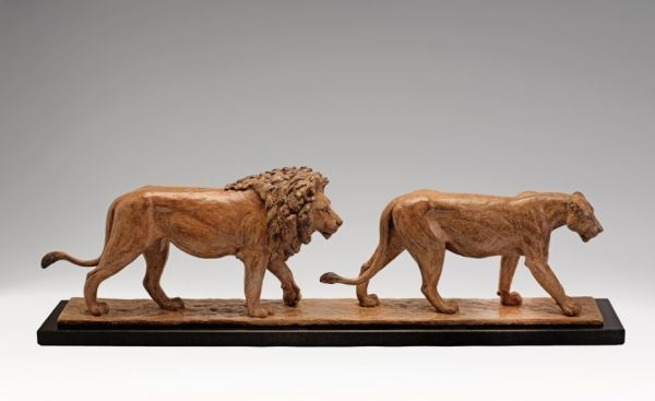 #Bronze #sculpture by #sculptor Camilla Le May titled: 'Pasha and Nero (Bronze L...