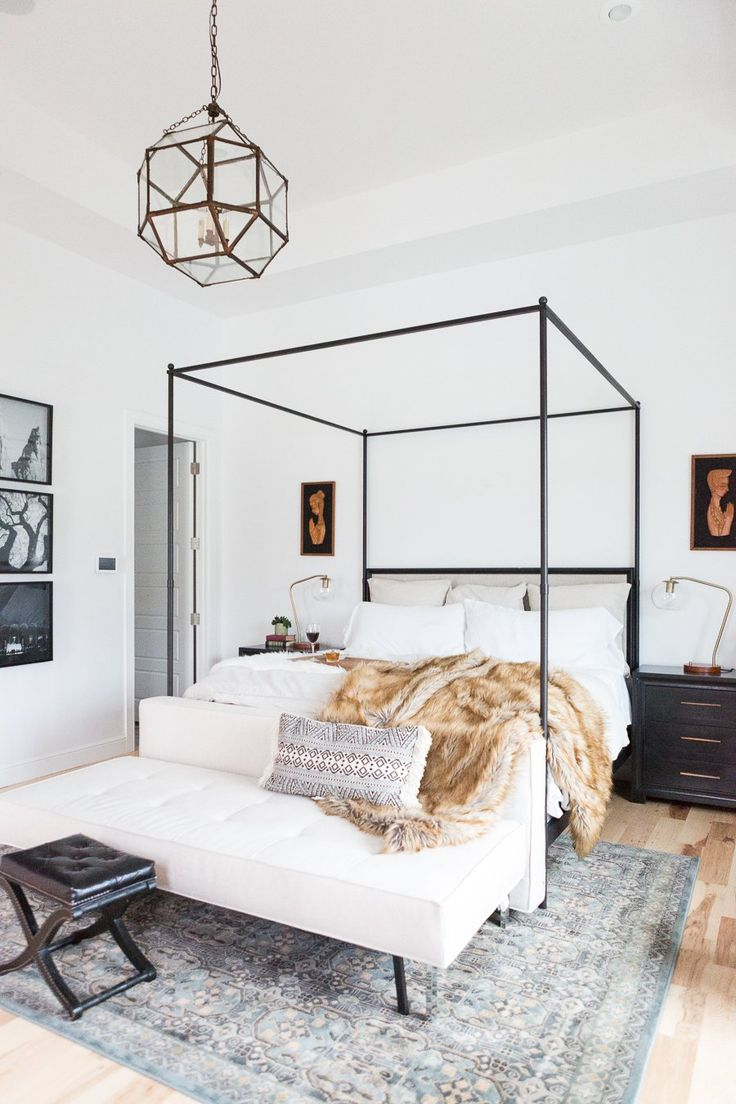 5 Tips for Creating A Master Bedroom He Will Love - Master bedroom design, canop...