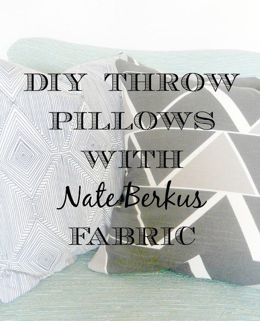 Make some easy envelope pillow covers following this simple tutorial. Use Nate B...