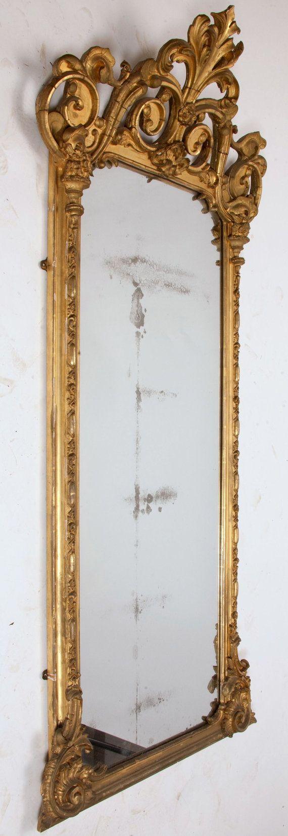 i wish !!!!!!! Circa 1870's Victorian Pier Mirror by trovedecor on Etsy, $38...