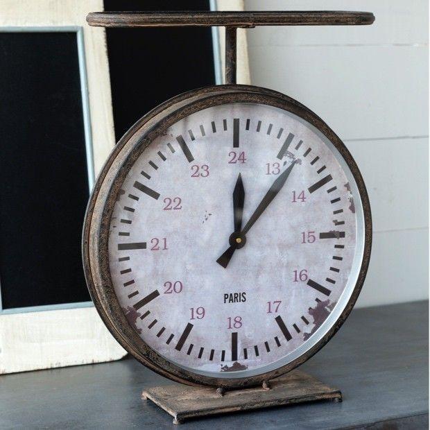 Vintage Style Hardware Scale Clock