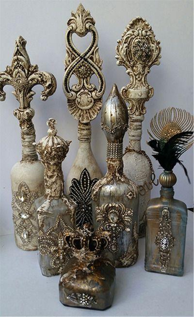 Decorative Bottles Michelle Butler Designs Decor