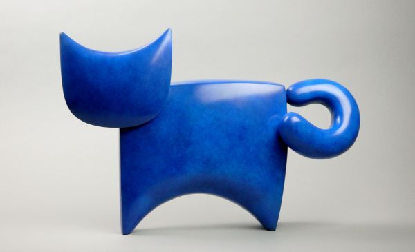 #Bronze #sculpture by #sculptor Stephen Page titled: 'C@ II (Bronze Minimalist C...