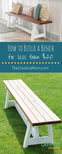 how to build a bench More...