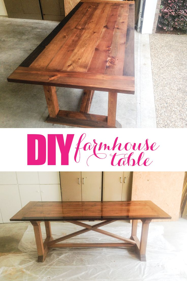 Best decor hacks make your own diy farmhouse table with for Build your own farmhouse