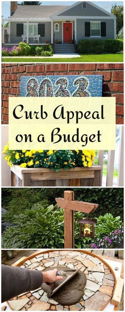 Who says curb appeal has to be expensive? Try some of these tips to give your ho...