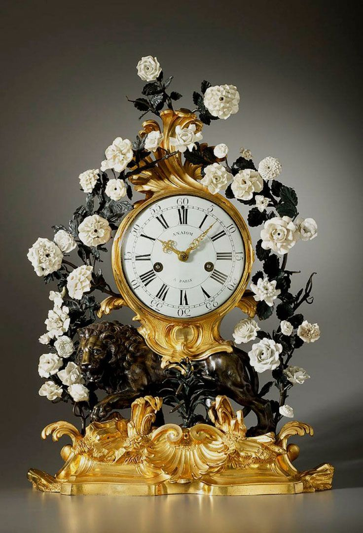 Clocks decor antique clock french ca 1800 beautiful mantel clock in gilded bronze with - Antique clock designs for your home ...