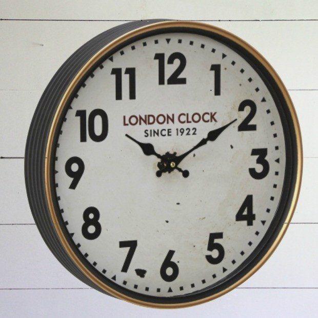 London Clock Company Retro Metal Wall Clock...