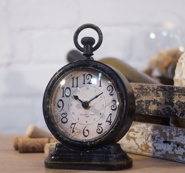 Clocks Decor Objects Metal Vintage Table Clock