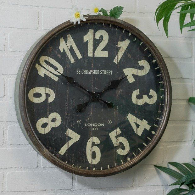 Parisian Metal Wall Clock...
