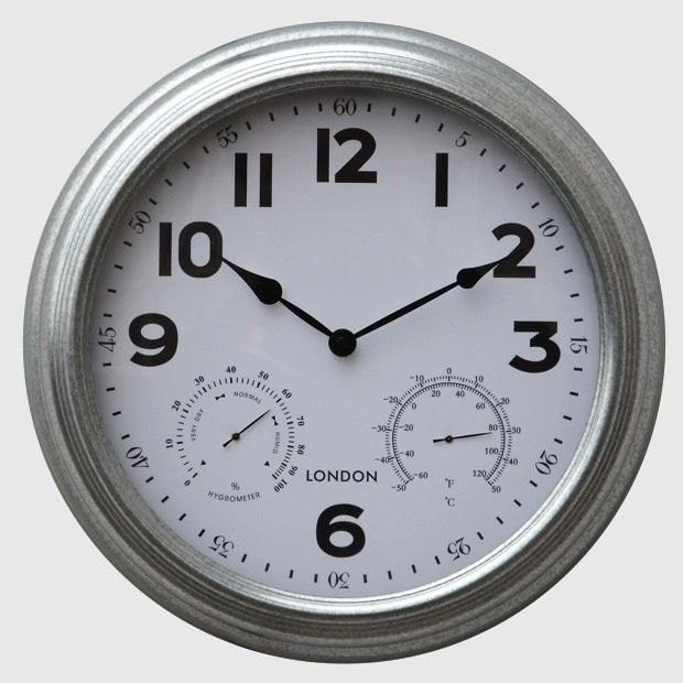 Thermometer and Hygrometer Wall Clock...
