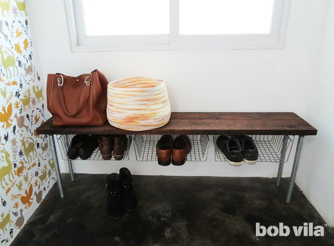 DIY Shoe Storage - Entryway Bench...