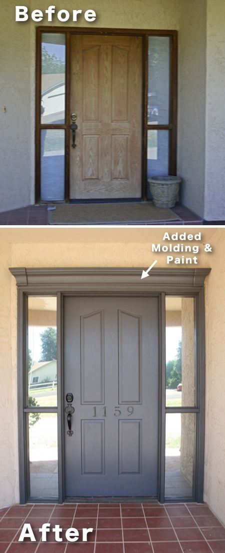 Add Molding And Paint To Your Front Door S