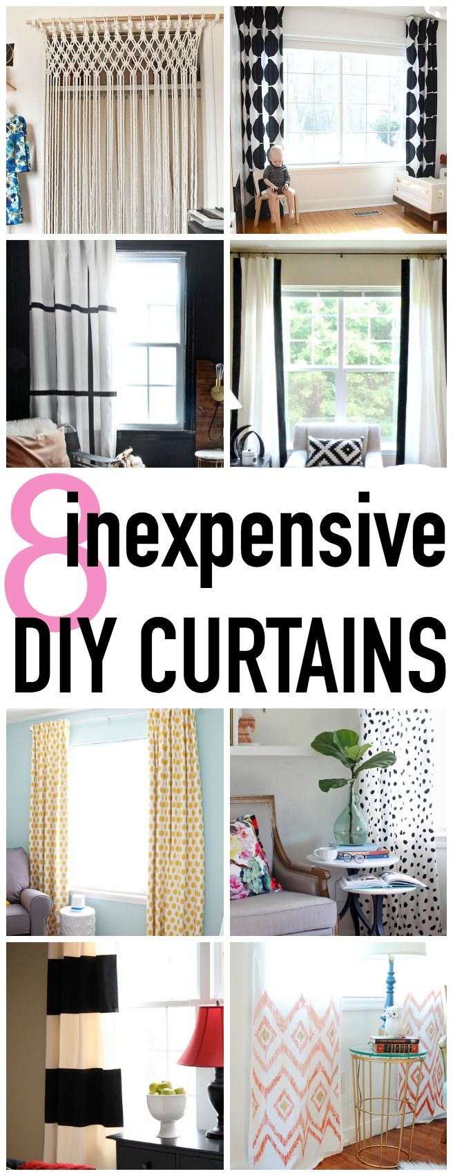 Decor Hacks 8 Super Stylish And Easy Diy Curtain Tutorials Click For More Ideas