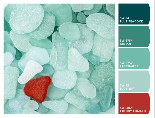 decor hacks coastal decor color palette teal sea glass decor