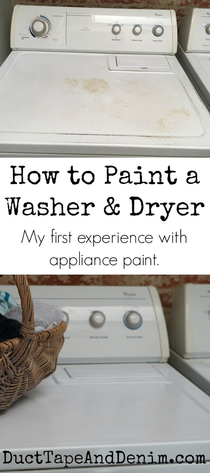 How to paint a washer and dryer. My first experience with appliance paint. Washi...