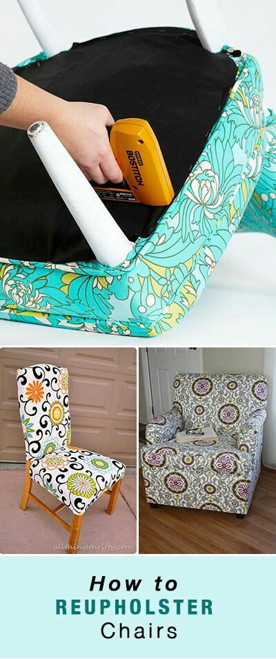 Learn how to reupholster a chair in an quick, easy and inexpensive way....