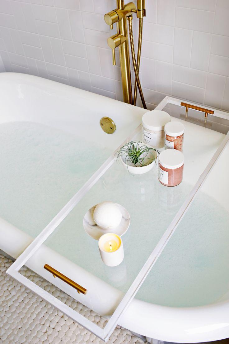 Decor Hacks : Lucite Bathtub Caddy DIY (click through for more ...