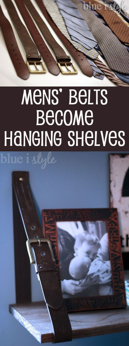 {diy with style} Leather Belt Shelves: A High-Low Story