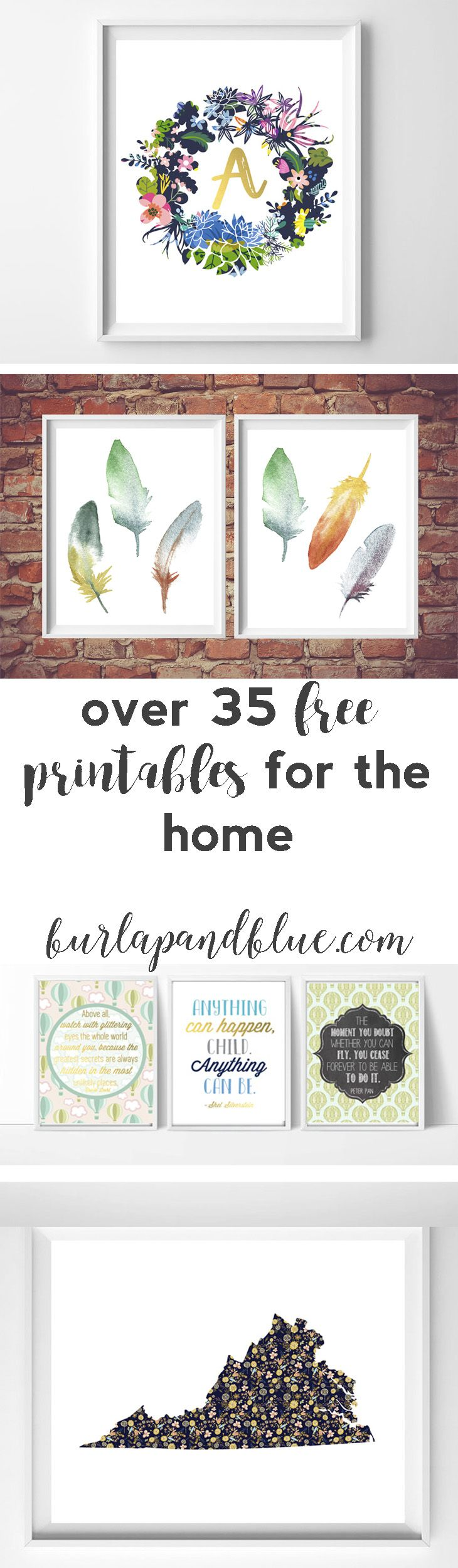 Decor hacks over 35 free printables for the home lots for Home decorations ideas for free