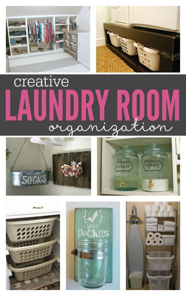 Reinvent your laundry room with these Creative DIY Laundry Room Organization Ide...