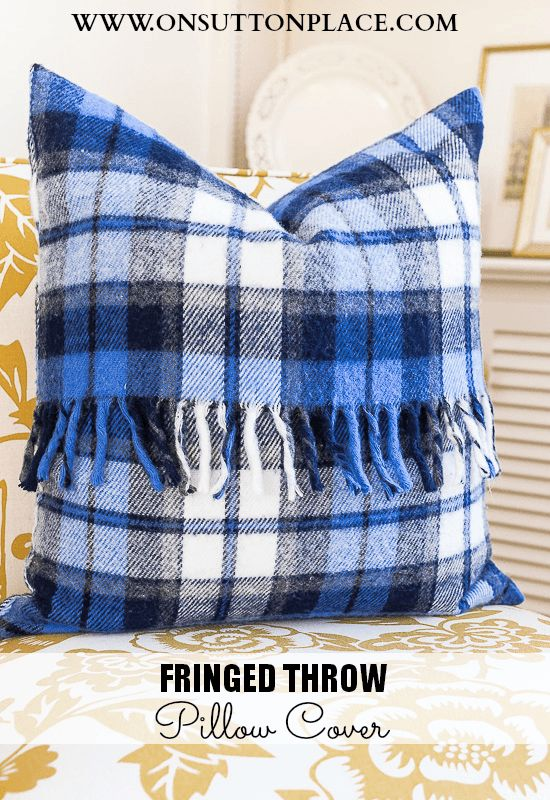 Repurpose an old throw into a pillow cover. Complete tutorial with pics!