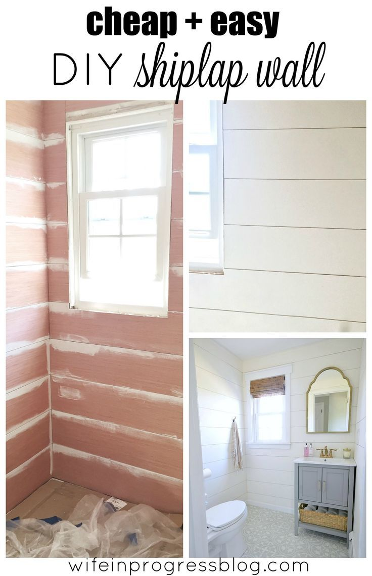 Decor Hacks : This shiplap wall was really inexpensive and easy to ...
