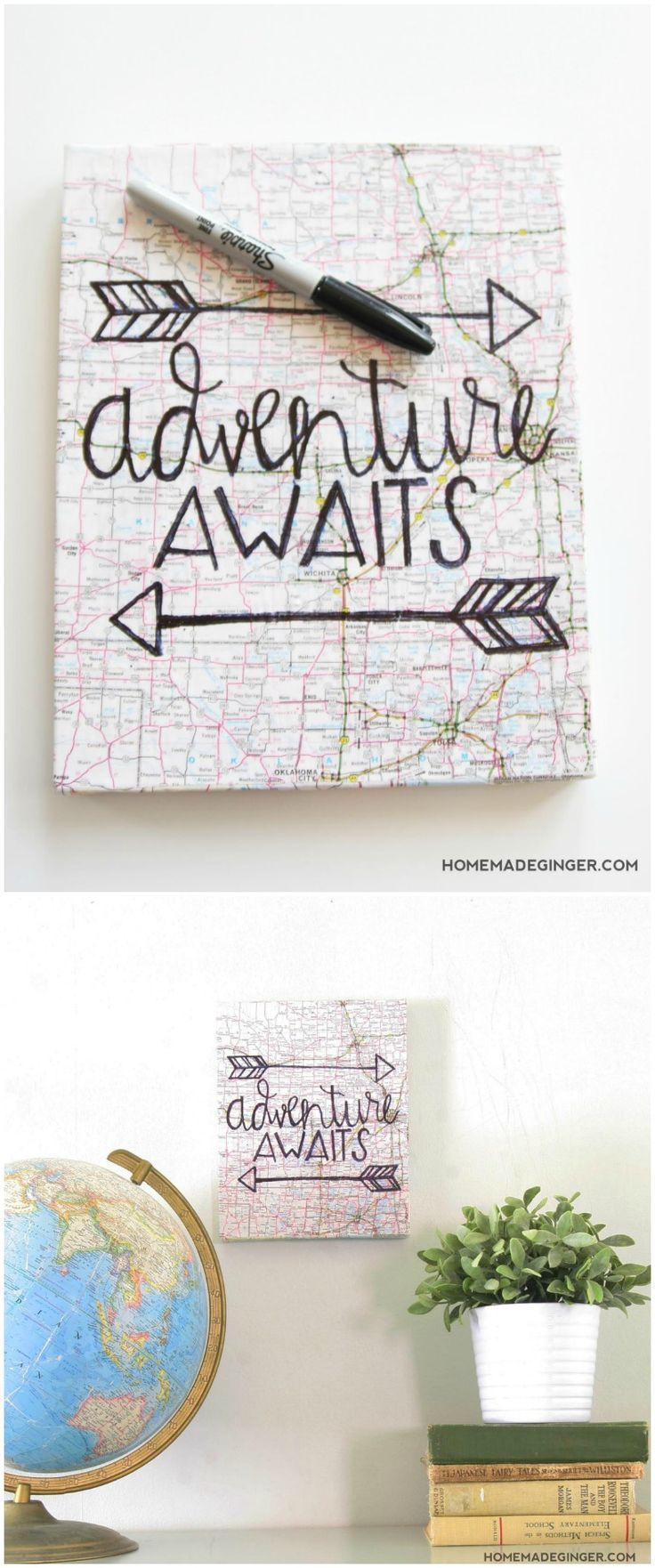 Hand Lettered Map Canvas Art (No Skills Required!)