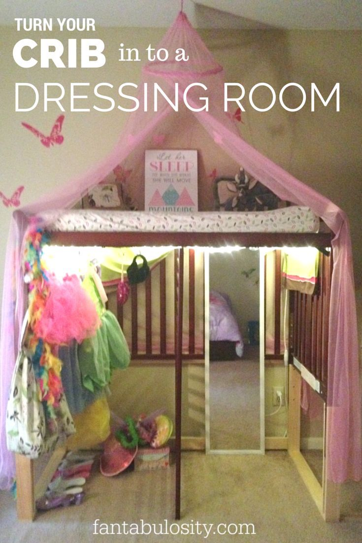 Turn your crib in to a dressing room!  Boy or Girl, any kid would love this for ...