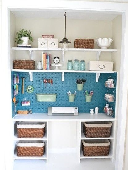Use pegboards to keep your house organized - shareably.net...