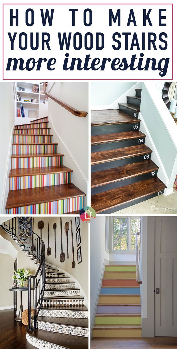 Wood stairs are beautiful, but they can be a bit boring, too! Learn how to embel...