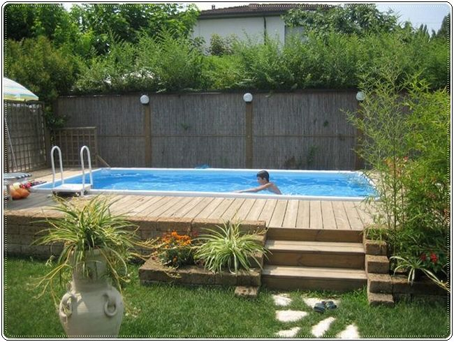 Above ground pool...
