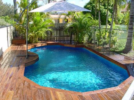 Decor Pools How To Build Small Deck For Above Ground