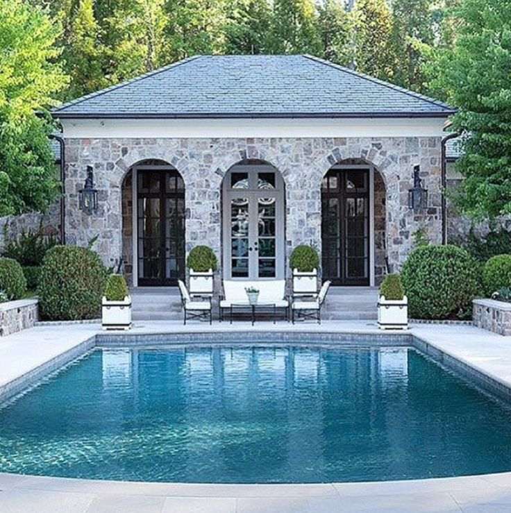 Pool house   Robyn Catinella   hedges   home inspo...