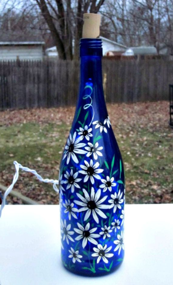 Decorative Bottles  Blue Wine Bottle Light, Table Light -4715