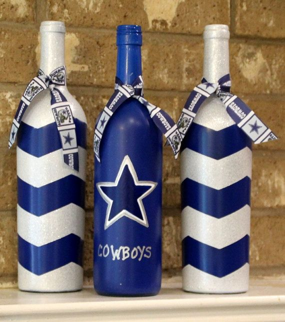 Decorative Bottles Dallas Cowboys Wine Bottles Football