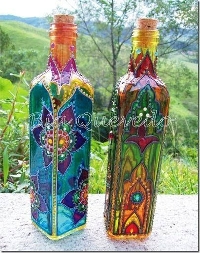 Decorate clear bottles to Awesomeness!I have a set of Spectrum Noir alcohol mark...