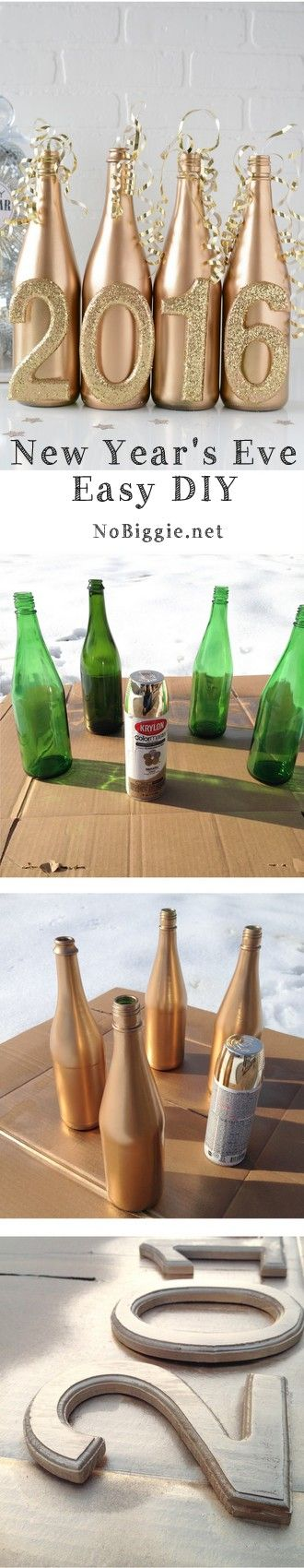 Decorative Bottles : Easy New Year's Eve DIY decor ...