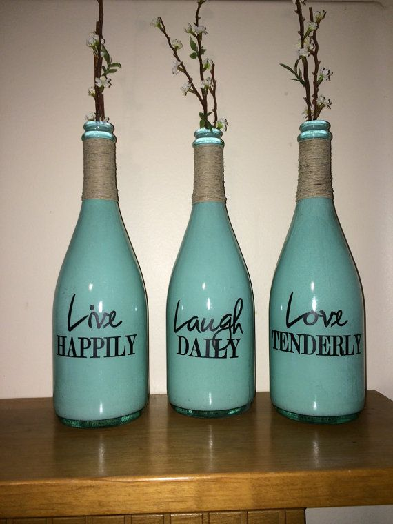 Decorative Bottles Live Laugh Love Wine Bottle Champagne Bottle