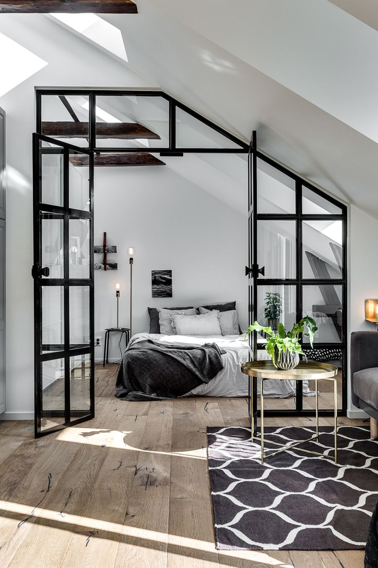 Attic Apartment With Industrial Glass Wall Follow Gravity Home: Blog    Instagram.