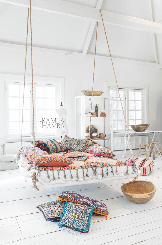 Furniture - Bedrooms : Beautiful Boucherouite rug and Moroccan ...