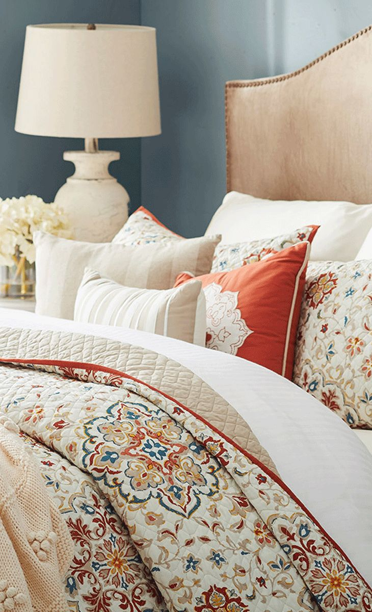 Bring a calming ambiance to your master suite with this quilted coverlet set, fe...