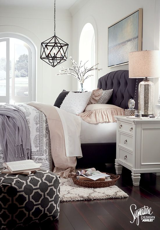 Inspirational Bedroom - Ashley Furniture - Furniture and Accessories - #AshleyFu...