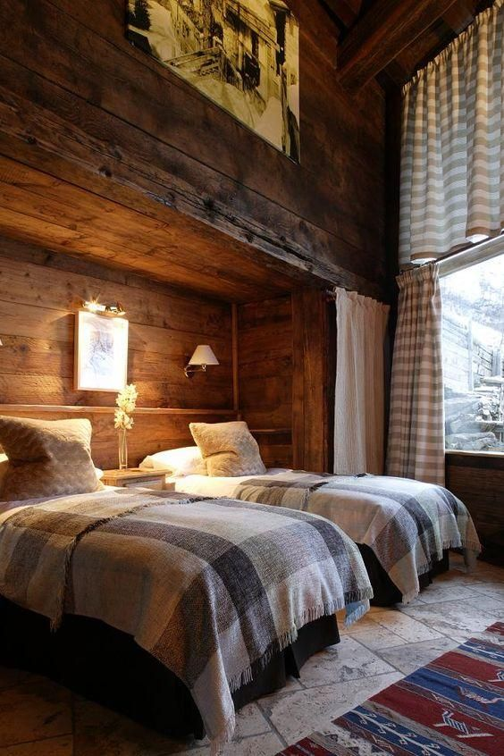 Furniture - Bedrooms : Luxury French ski chalet bedroom with rustic ...