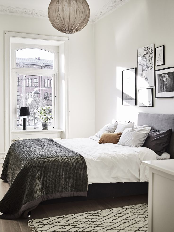 Natural Bedroom Decor: Natural Lighted Scandinavian Bedroom...