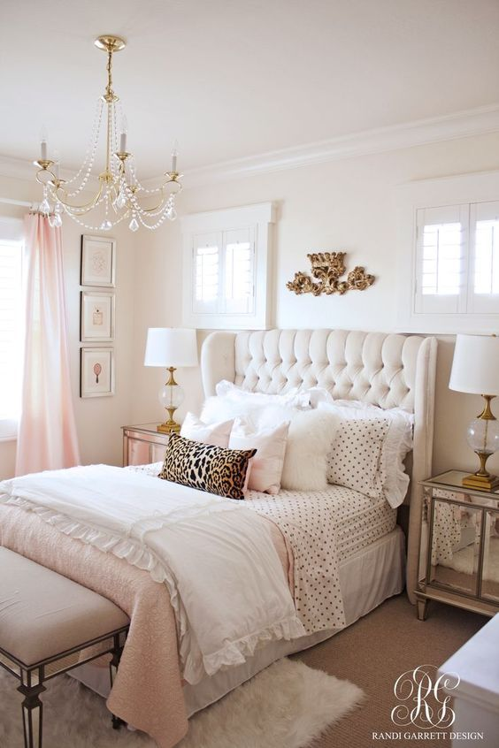 Pink Gold Girls Bedroom Love The Mirrored Nightstand