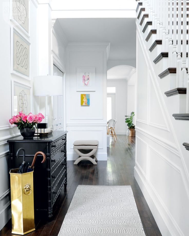 Design Trend 2017: A bright and beautiful entryway with timeless character....