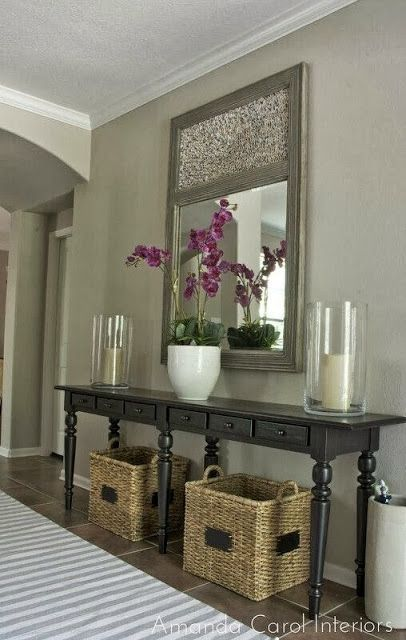 Diy Home decor ideas on a budget. Beautiful! Need some baskets for under our con...